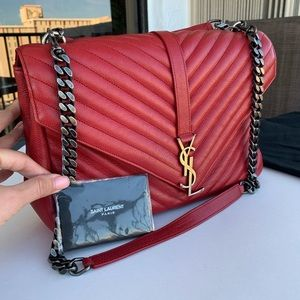 YSL College Matelasse Leather Bag🔥Large🔥